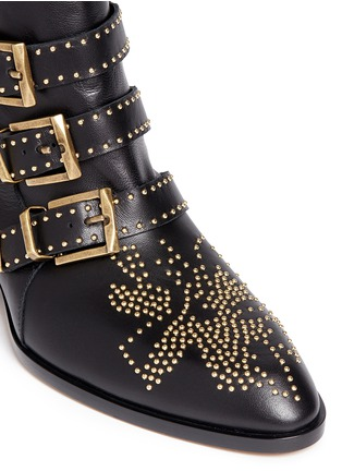 Detail View - Click To Enlarge - Chloé - 'Susanna' stud nappa leather boots