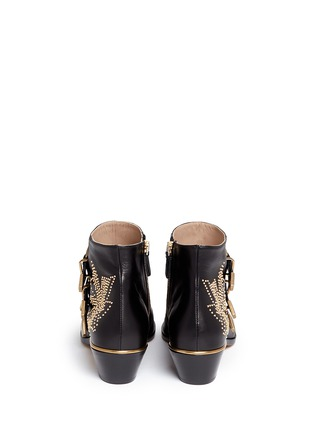 Back View - Click To Enlarge - Chloé - 'Susanna' stud nappa leather boots