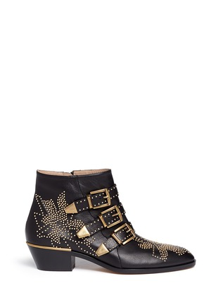 Main View - Click To Enlarge - Chloé - 'Susanna' stud nappa leather boots