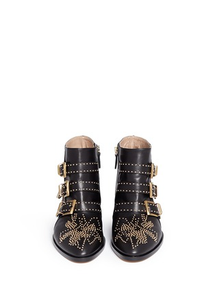 Figure View - Click To Enlarge - Chloé - 'Susanna' stud nappa leather boots