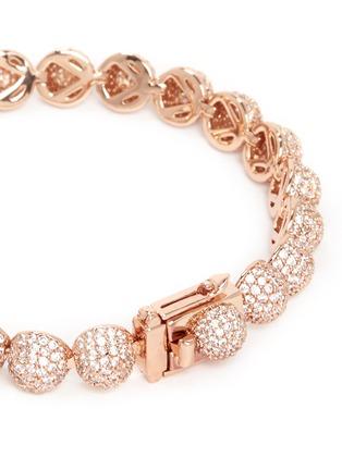 Eddie Borgo-Crystal pavé milgrain medium dome bracelet
