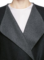 'Augustus' wool melton belted wrap coat