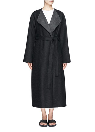 The Row - 'Augustus' wool melton belted wrap coat