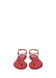 RENÉ CAOVILLA'Cupido' strass border satin T-strap sandals