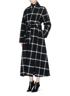 LANVIN Belted check wool coat
