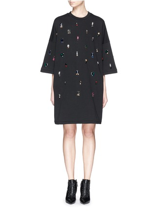 Main View - Click To Enlarge - Lanvin - Jewel sweatshirt dress