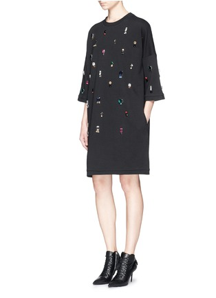 Figure View - Click To Enlarge - Lanvin - Jewel sweatshirt dress