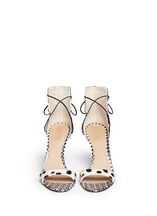 Figure View - Click To Enlarge - REED KRAKOFF - Snakeskin leather ankle wrap sandals
