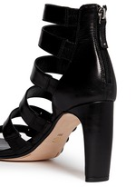 'Tansey' asymmetric cord leather sandals