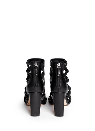 Back View - Click To Enlarge - 10 Crosby Derek Lam - 'Tansey' asymmetric cord leather sandals