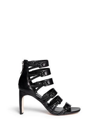 Main View - Click To Enlarge - 10 Crosby Derek Lam - 'Tansey' asymmetric cord leather sandals