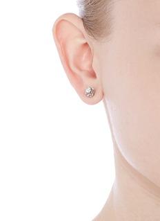 Lazare Kaplan 'Wedding' 18k white gold diamond earrings
