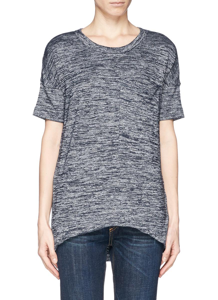 Rag bone jean 39 new giada 39 chest pocket t shirt grey for Rag and bone t shirts