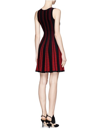 Back View - Click To Enlarge - Alexander McQueen - Arrow knit dress