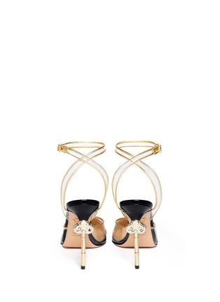 Front View - Click To Enlarge - Charlotte Olympia - 'Enigma' metal key stiletto pumps