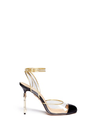 Main View - Click To Enlarge - Charlotte Olympia - 'Enigma' metal key stiletto pumps