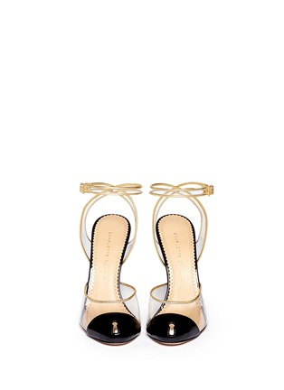 Figure View - Click To Enlarge - Charlotte Olympia - 'Enigma' metal key stiletto pumps