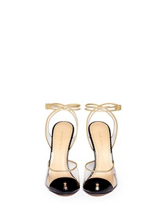 CHARLOTTE OLYMPIA 'Enigma' metal key stiletto pumps