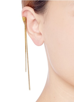 Figure View - Click To Enlarge - Ela Stone - Franges chain fringe ear cuff
