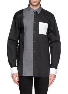 HELMUT LANGTech poplin colour-block shirt