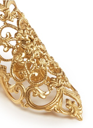 Detail View - Click To Enlarge - Ela Stone - 'Dentelle' lace filigree ring