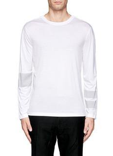HELMUT LANGContrast stripe T-shirt