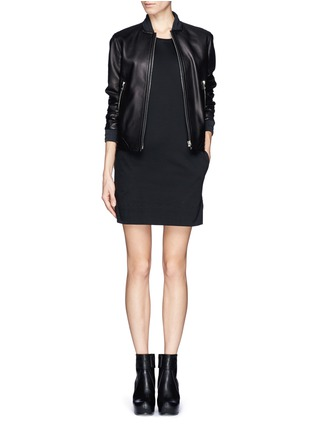 Detail View - Click To Enlarge - Helmut Lang - Cotton T-shirt dress