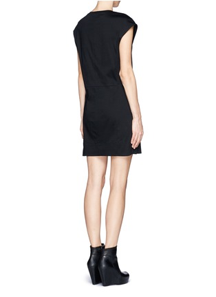Back View - Click To Enlarge - Helmut Lang - Cotton T-shirt dress