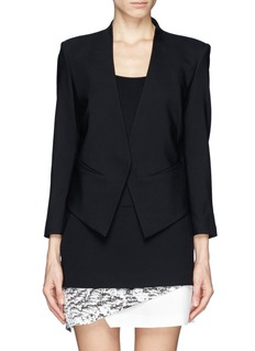 HELMUT LANG Inverted collar tux blazer