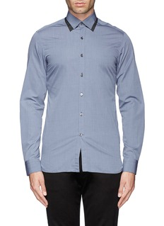 LANVINDouble layer collar effect poplin shirt