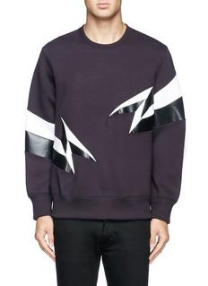 NEIL BARRETTLightning embroidery sweatshirt
