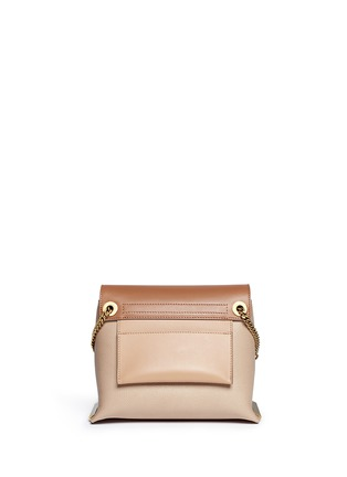 Back View - Click To Enlarge - Chloé - 'Clare' small leather shoulder bag