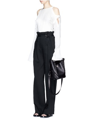 Front View - Click To Enlarge - 3.1 Phillip Lim - 'Dolly' small stud leather bucket bag