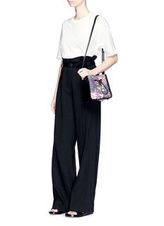 3.1 Phillip Lim 'Soleil' mini floral denim and leather bucket bag