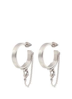Eddie Borgo'Thin Safety Chain' hoop earrings