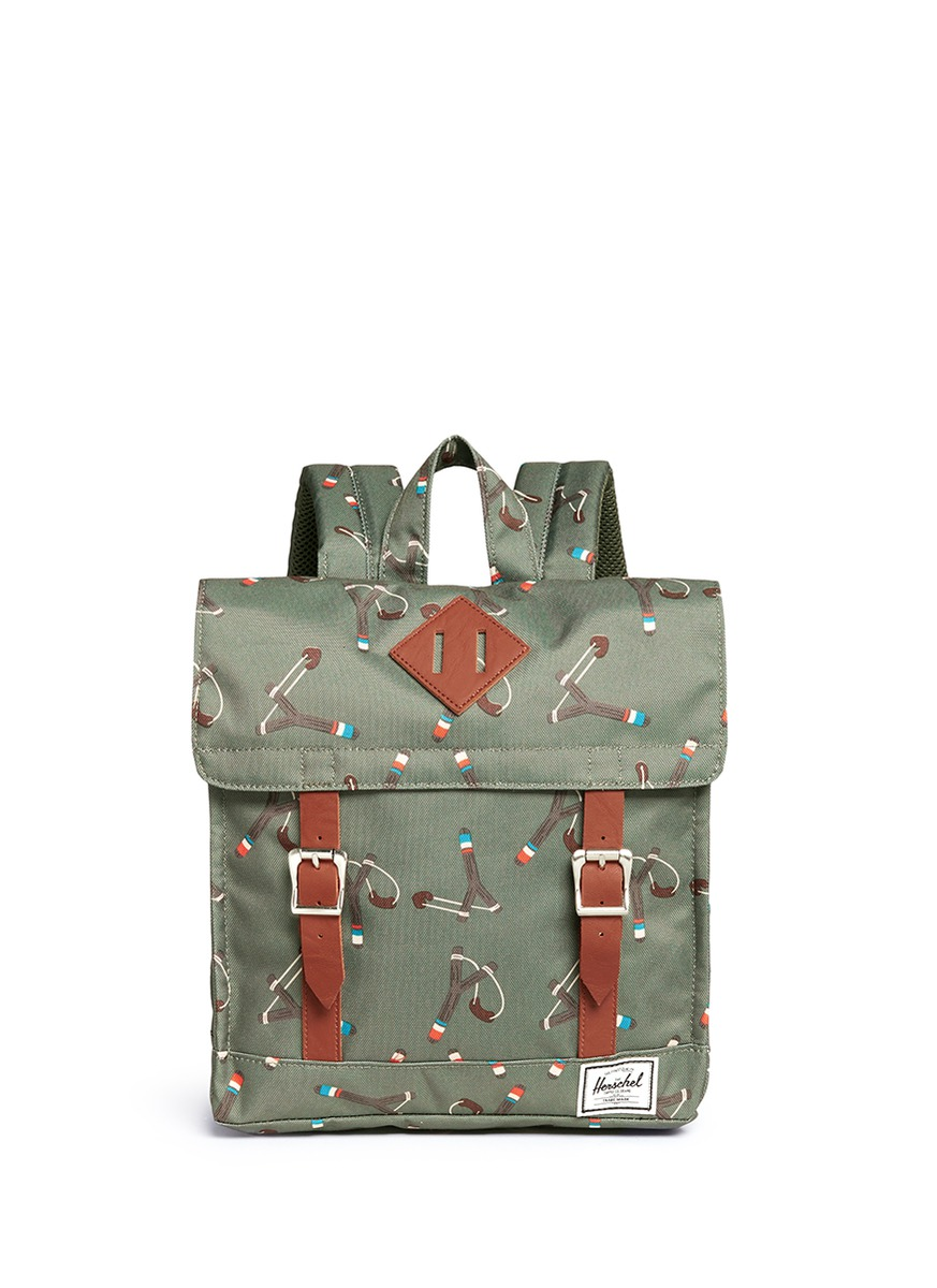 Survey sticks and stones print canvas 5.5L kids backpack by The Herschel Supply Co. Brand