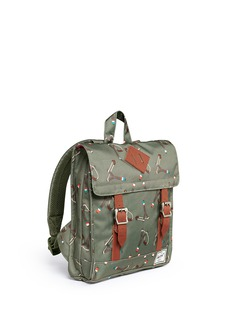 The Herschel Supply Co. Brand 'Survey' sticks and stones print canvas 5.5L kids backpack