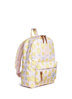Herschel Kids 'Heritage' lemon drop print canvas 9L kids backpack