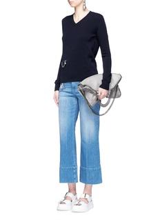 Stella McCartney'Falabella' chain zip pocket virgin wool sweater