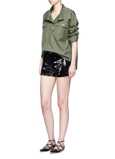 alice + olivia 'Sherri' sequin shorts