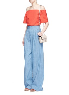 alice + olivia 'Eloise' chambray wide leg pants