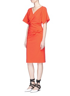 Emilio Pucci Knotted wrap front stretch crepe dress
