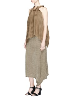 Stella McCartneyChunky stitch asymmetric linen knit skirt