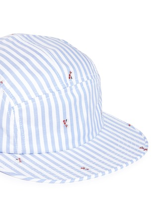 Detail View - Click To Enlarge - Maison Kitsuné - Stripe fox jacquard baseball cap