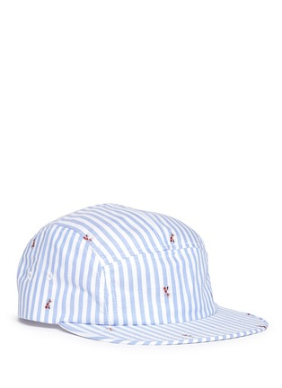 Main View - Click To Enlarge - Maison Kitsuné - Stripe fox jacquard baseball cap