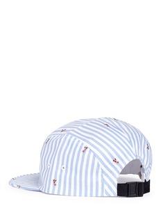 Maison KitsunéStripe fox jacquard baseball cap
