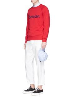 Maison Kitsuné'Parisien' embroidered sweatshirt