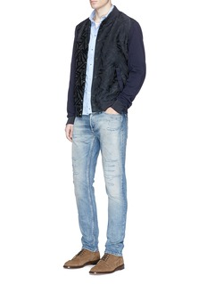 Scotch & Soda Leaf jacquard bomber jacket