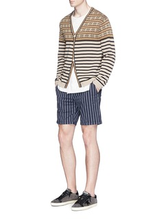 Scotch & Soda Stripe cotton twill skinny shorts