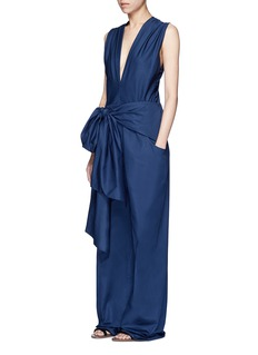 TomeOversized bow cotton jumpsuit